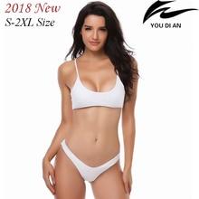 2018 new low waist women bikini swimwear swimsuit female plus size  swim suit swimming bathing beach wear large size S to 2XL