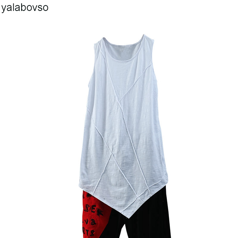 Bamboo Cotton Soft Vest 2018 Summer Tank Tops Women Loose O Neck Tees White black color Vest woman Yalabovso A74-XX902 Z20