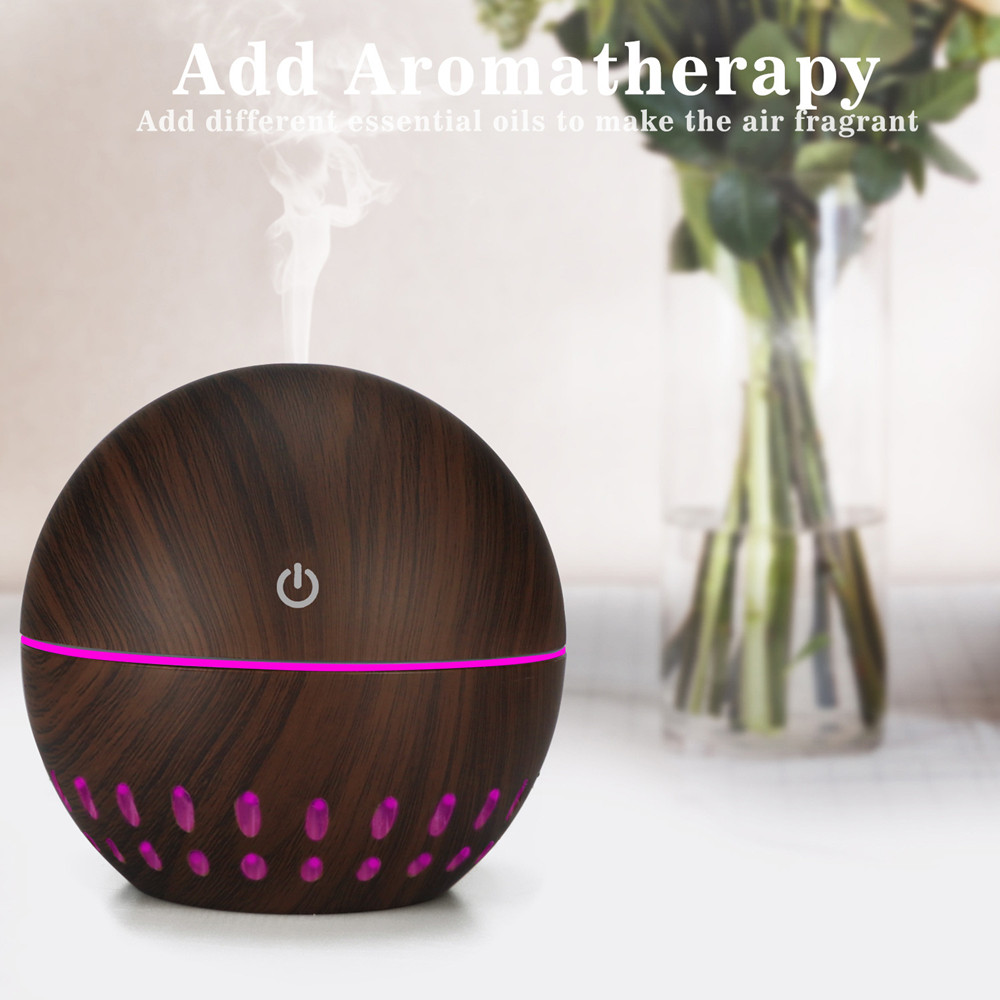 usb air humidifier 130ml mini Aroma Essential Oil diffuser 7 Color Changing LED lights Aromatherapy machine home office