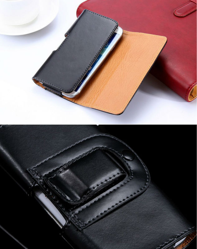 Universal Classic Men Sport Outdooor Flip Leather Belt Buckle Clip Holster Case Cover For Lenovo Vibe Shot Z90-7 5inch Pouch
