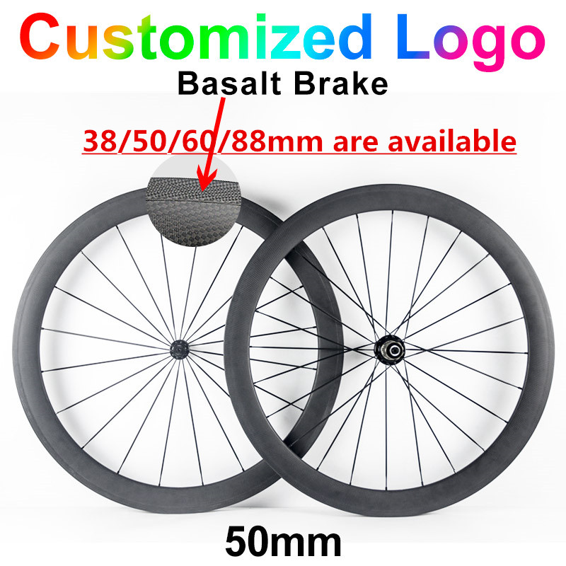 50mm 700C carbon Road bike wheels 23mm width 3K UD matte glossy chinese Carbon fiber bicycle cycling racing wheelset 38mm 60mm