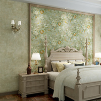American Retro Flowers Wallpaper For Living Room Bedroom 3d Flooring Wall Papers Home Decor Papel Contact