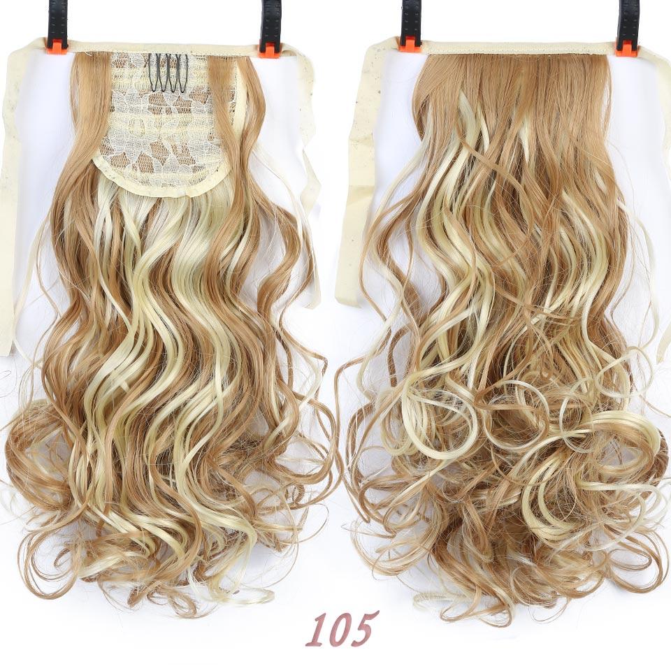 SHANGKE Short Clip Drawstring Curly Ponytail Hair Pieces - Syntetiskt hår - Foto 6
