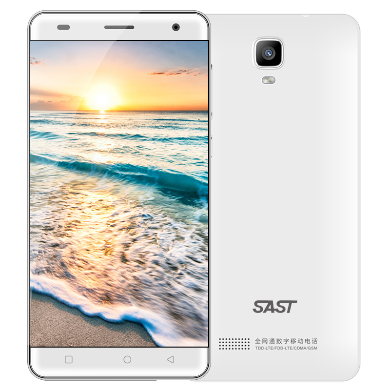 Made in China Smartphone SAST SA8 white color Micro USB 3 5mm slim body YUNOS system