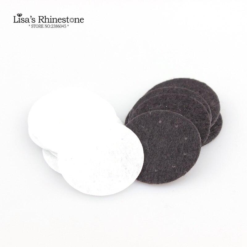 Белый/черный цвет круглый с отверстиями патч ткань фетр круг для DIY дно цветок аксессуары Круглые патчи