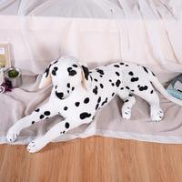 large 85cm prone dog simulation dalmatian plush toy soft doll hug pillow Christmas gift w1080