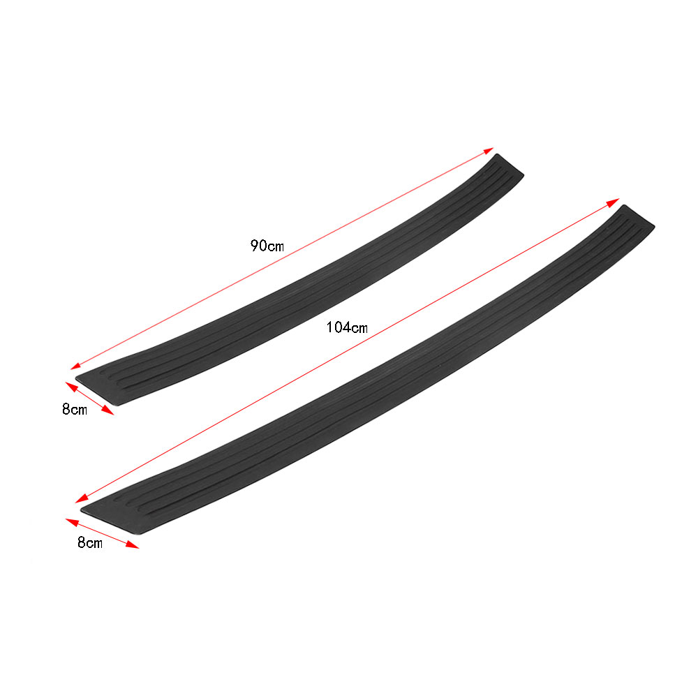 Car Styling Black Rubber Rear Guard Bumper Protector Trim Cover Sticker for CITROEN SEDAN DS3 DS5 DS6 C3 C4 C5 C6 C8 for citroen c6 td
