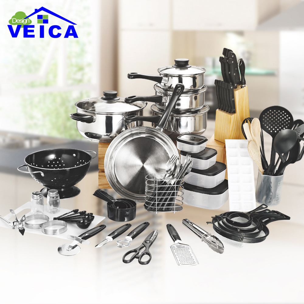 80 Piece Panelas De Ceramica Arrival Fda Top Fashion Real Cookware Cooking Pots And Pans Set