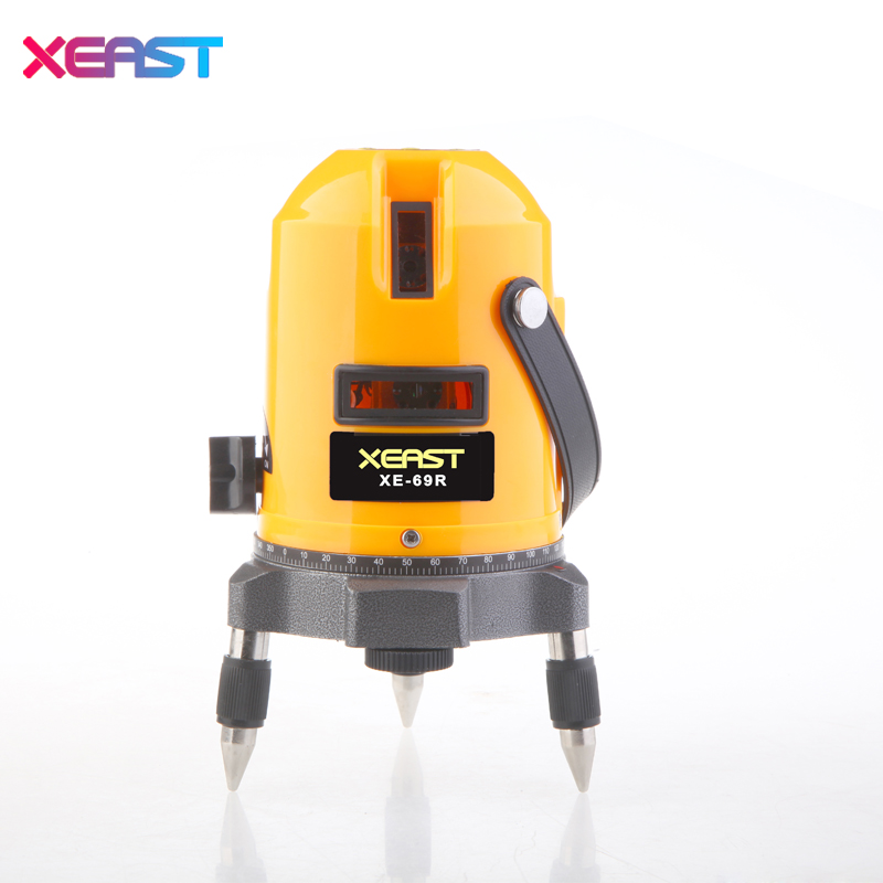 XEAST XE-69R new arrival 5 Lines 6 Points Laser Level 360 Rotary Cross Lazer Line Leveling with tilt function New product promot xeast xe 50r new arrival 5 lines 6 points laser level 360 rotary cross lazer line leveling with tilt function