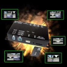 SD kart akıllı Mini araba kaydedici DVR panoramik sürüş İzleme trafik kaydedici dört görüş video 4 kanal ccd kamera