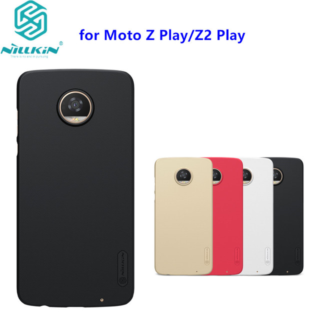 new products 0bc57 1ad65 US $7.19 5% OFF|For Motorola Moto Z Play Case Nillkin Frosted PC Hard Back  Cover Case for Moto Z2 Play with gift-in Fitted Cases from Cellphones & ...