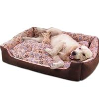 Winter Warm Fleece Sleeping Pet Dog Bed Cat Sofa Waterproof House For Small Medium Large Dogs