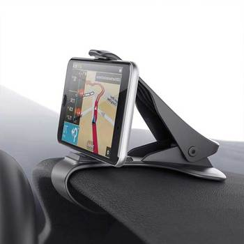 ALMXM Car Phone Holder Clip HUD Design Dashboard Adjustable Mount For iPhone 8 7 Plus 6 Galaxy s9 S8 Note 8 Phone Stand Bracket image