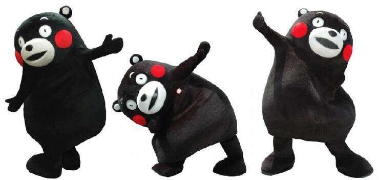 Mascotte japonaise Kumamon célébration spectacle Costume Web Sensation ours