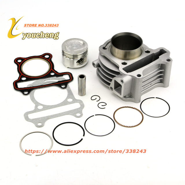 US $45 8 |Aliexpress com : Buy Cylinder Kit GY650cc 100cc Scooter Engine  with Piston Kit Moped 4 stroke 1P39QMB Wholesale Scooter Parts TG GY6 from