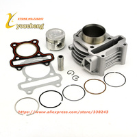 Cylinder Kit For GY6 100cc Scooter Engine 50mm With Piston Kit Moped 4 Stroke 1P39QMB Free