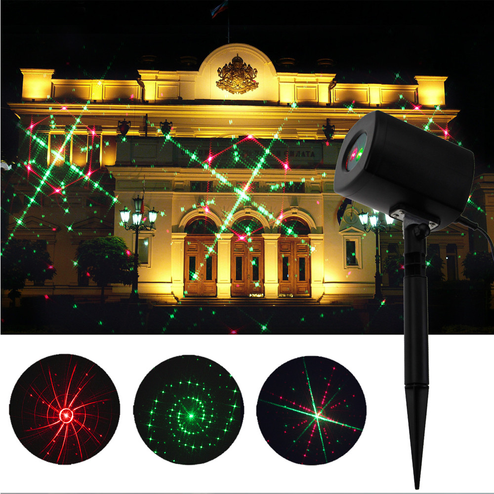Light Outdoor Indoor Waterproof Red & Green Landscape Lights,