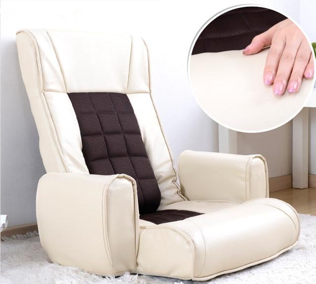 Sentarse en el suelo Muebles De Cuero Silla Plegable Ajustable de 14 ...