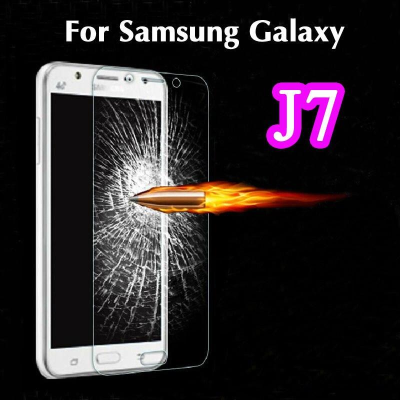 0.3mm Explosion Proof Clear HD Tempered Glass Screen Protector Film For Samsung Galaxy J7 J700F J700H pelicula de vidro guard