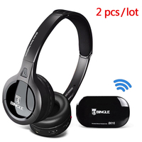 Wireless Connection TV Transmitter Headphone With FM Radio Casque Headset Music Audio Transmitter Big Earphone For