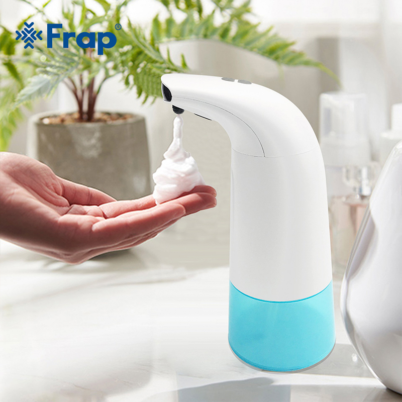 FRAP 280/200ml Infrared Sensing Automatic Portable Foam Soap Dispenser For Bathroom Kitchen No Noise Liquid Soap Dispenser image
