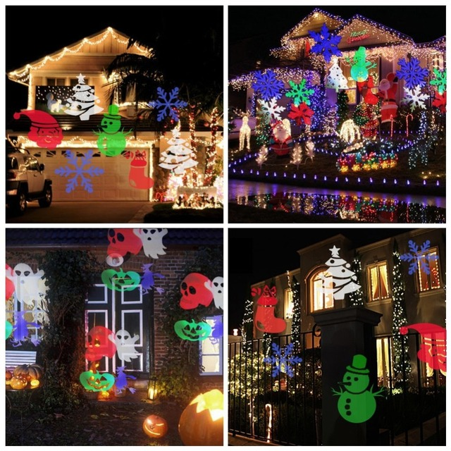 outdoor lighting christmas light projector light spotlight 12 pics dynamic light show for halloween party holiday
