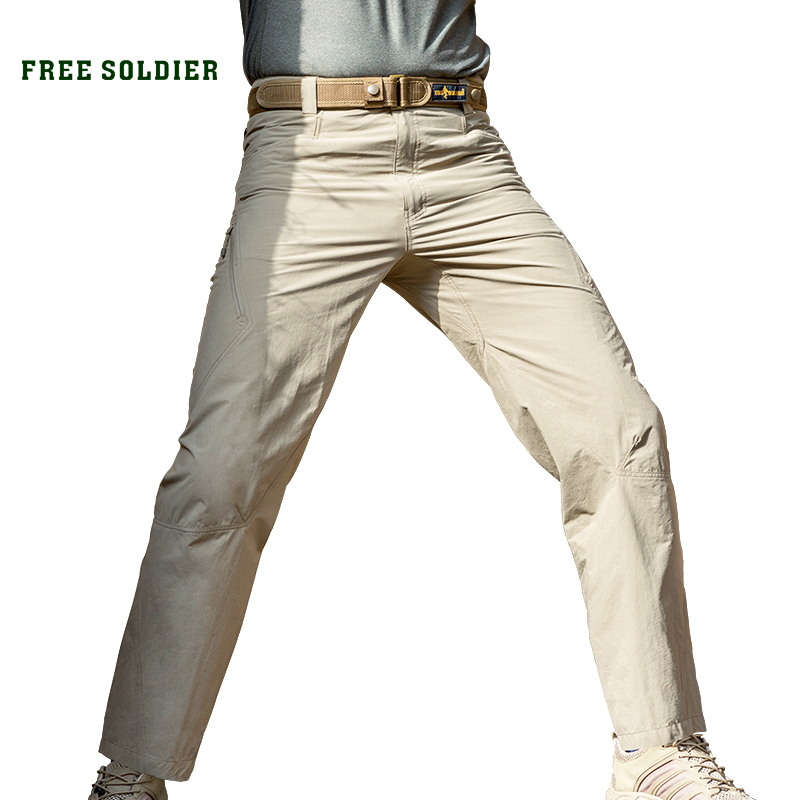 FREE SOLDIER Military tactical trousers Outdoor soft shell trousers Men s thin fitted summer and winter