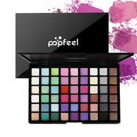 POPFEEL Fashion Matte Glitter Eyeshadow Palette Long-lasting Cosmetics 54 Colors Professional Pigment Eye Shadow Makeup Tools Eyeshadow