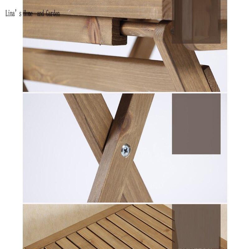 Us 2665 Naturalne Wykończenie Drewna Nowa Klasyczna Składane Małe Kwadratowe Listwy Drewniany Stolik Kawowy W Naturalne Wykończenie Drewna Nowa