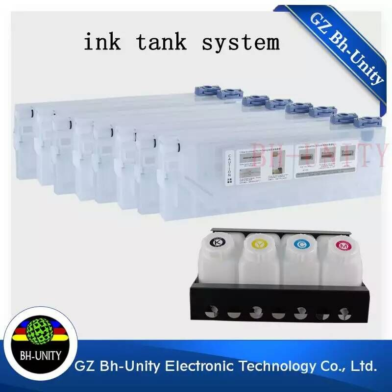 Hot sales!!!4 tank with 8cartridge bulk ink system for Roland Mutoh Mimaki Wit color solvent printer machine hot sale 1000ml 4 color eco solvent ink in bottle compatible for roland mimaki mutoh printer
