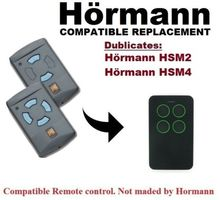 Compatible with Hormann HSM2/HSM4 Remote Control Replacement 868.3/433.92Mhz Black