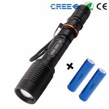 lanterna Waterproof 3800 lumens led flashlight cree xml t6 zoomable + 2*18650 rechargeable battery  Torch light