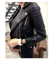 2018 New Fashion Women Faux Soft Leather Jackets HOT Autumn Winter Pu Black Blazer Zippers Coat Motorcycle Outerwear