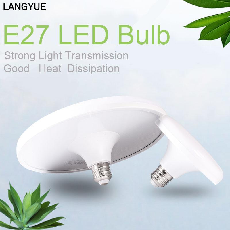 E27 LED Bulb Light 220V Lampada Bombillas Led Lamp Home UFO Bulbs Energy Saving 15W 20W 40W 50W 60W for Home Lighting Cold White