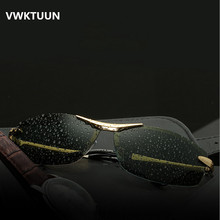 VWKTUUN Polarized Sunglasses Men Driving Sunglass Rectangle Sunglases Retro Sun glasses For Male Vintage HD Polarized Oculos