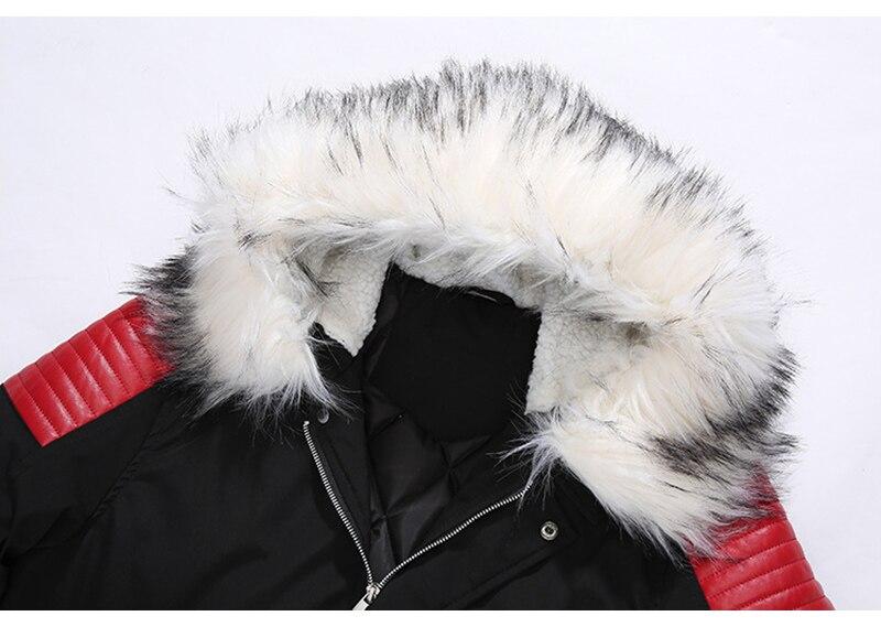 Aolamegs Fur Collar Winter Jacket Men Patchwork Thick Hooded Down Jacket Men Parkas Fashion Windproof Coat Mens Streetwear (7)