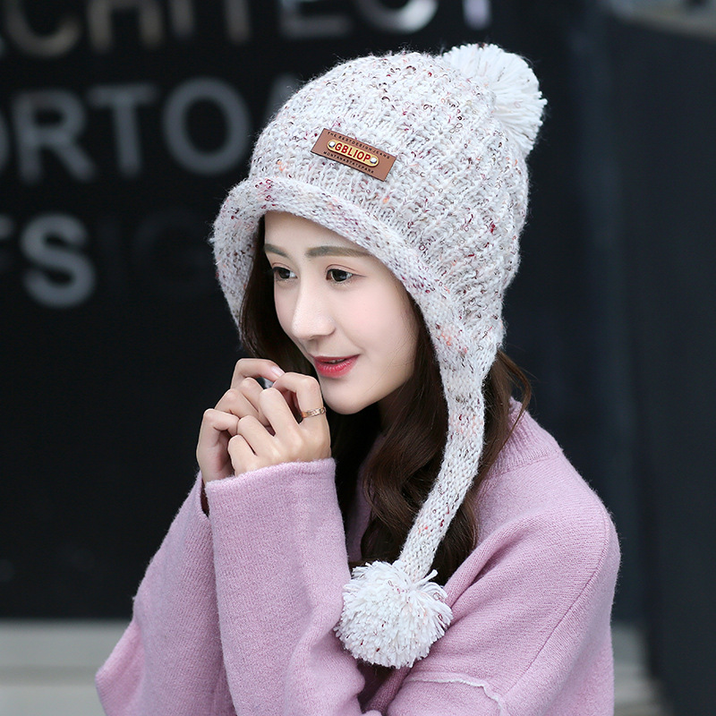 Free Shipping 1 PCS Fashion 2016 Autumn And Winter Hats Warm Knitting Ball Cap Casual Outdoor Caps For Women WMMI005