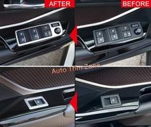 Per Guida A sinistra 2 PZ ABS Front Door Window Bracciolo Interruttore Pulsanti Copertura Trim Per Toyota C-HR CHR 2016 2017