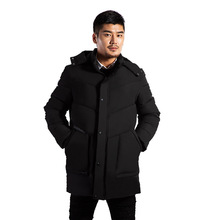 High-grade winter mens comfortable soft cotton clothing waterproof and cold warm long casual thick coat