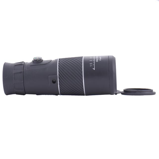 Universal 8X40 Senderismo Brújula Cámara Lente telescopio Monocular Telescopio Zoom Para El Teléfono Inteligente con el compás para el teléfono