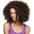 Afro Rizado Peluca de Pelo rizado Pelucas de Cosplay Pelucas a prueba de Calor Del Pelo Sintético Pelucas para Las Mujeres Negras