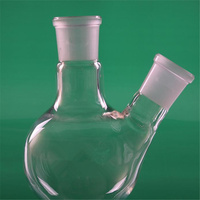 5000ml,40*24,2 neck,Round bottom Glass flask,Lab Boiling Flasks,Double neck laboratory glassware