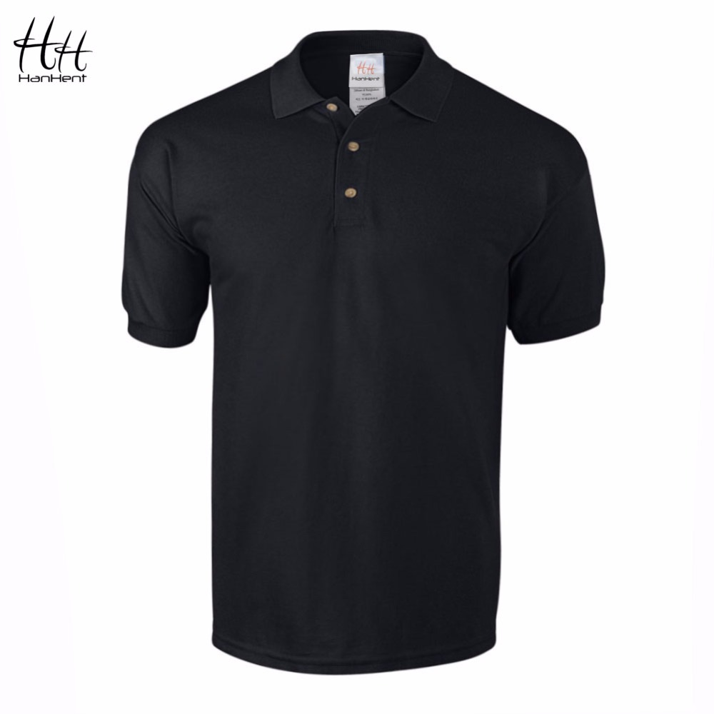 Hanhent business office polo shirt 2016 new brand men for Mens cotton polo shirts