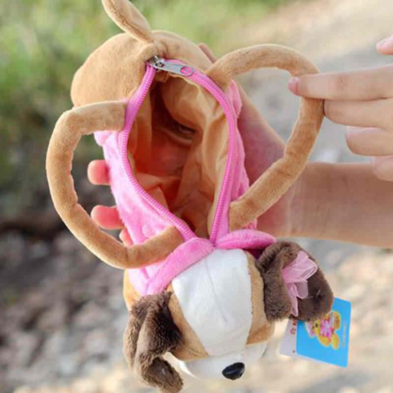 Плюшевый детский пенал сумка для монет собака/медведь мультфильм Милая женская сумка Детский праздничный подарок игрушка 22*14 см подходит для школы травле