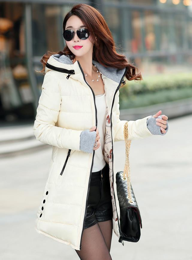 Ms New Winter Cotton-padded Jacket Womens Yards Cultivate One's Morality Show Thin Leisure Cotton-padded Clothes Long Coat momentum 1m dv76b7g