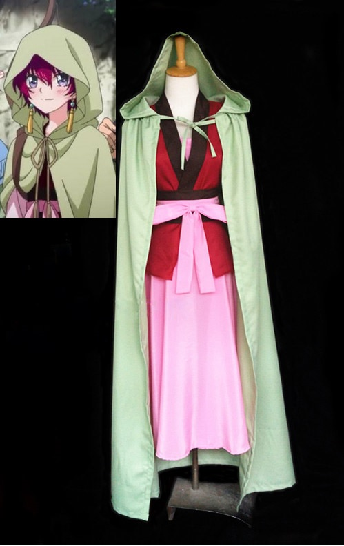 Yona of the Dawn Cosplay Anime Akatsuki no Yona Cosplay Costume Yona Dress Cloak Outfit Uniform Cape with Earrings