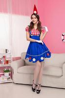 New Blue Women Halloween Maid Costume 3S1533 Fancy French Maid Costumes Sexy Fancy Costumes Free Shipping