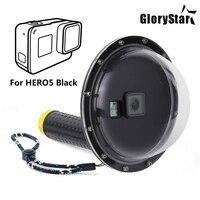 GloryStar 6 Waterproof Dome Port Cover for GoPro Hero 5 6 Camera Lens Dome Waterproof Case for Go Pro Hero5 Hero6 Accessories