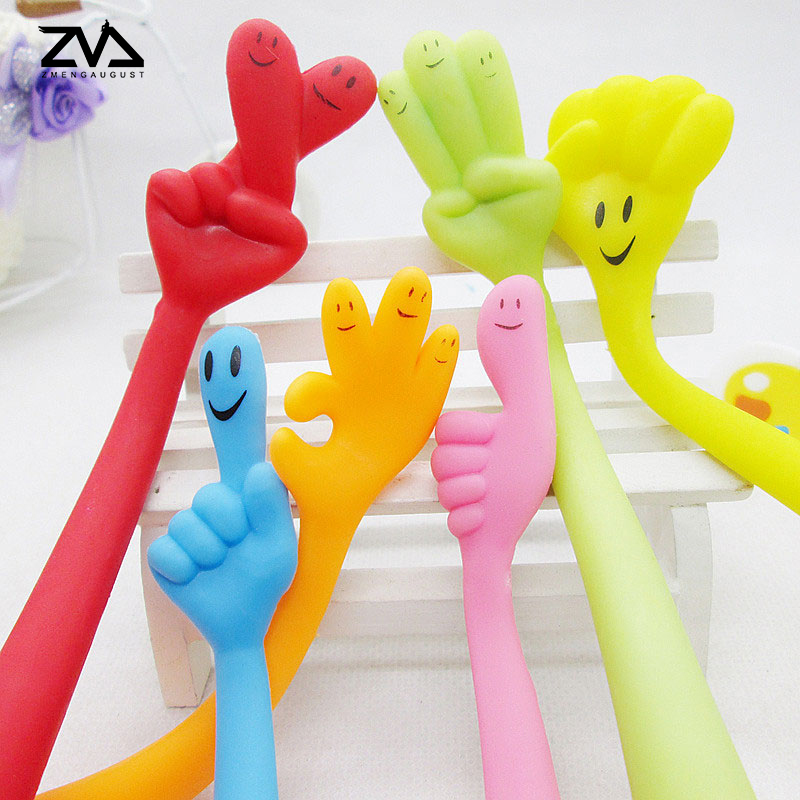 2 pcs lot Expression finger pen Kawaii Ballpoint Pen For Writing School Supplies Office Accessories Stationary Kids Student Gift in Ballpoint Pens from Office School Supplies