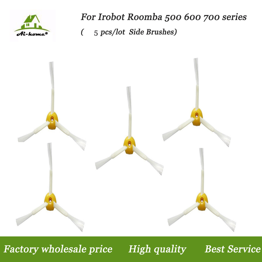 5PCS 3 Armed Side Brush For iRobot Roomba 500 600 700 Series 528 595 610 620 630 650 660 760 770 780 Robot Vacuum Cleaner Parts image